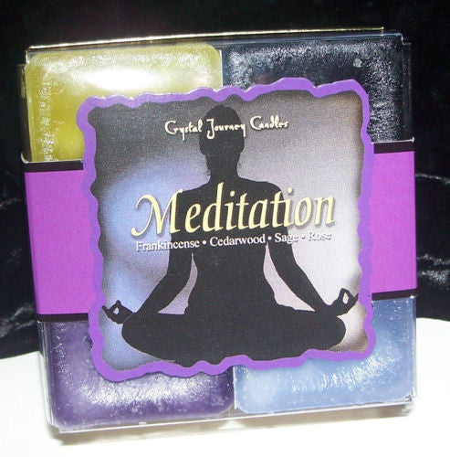 MEDITATION Candles Crystal Journey Candles 4 Candle Gift Set Create SACRED SPACE