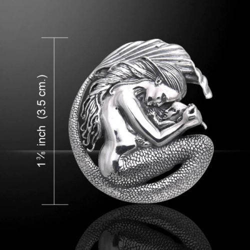 MERMAID Pendant in .925 Sterling Silver - Selina Fenech's Mermaid & Baby Mother Love Fantasy pendant