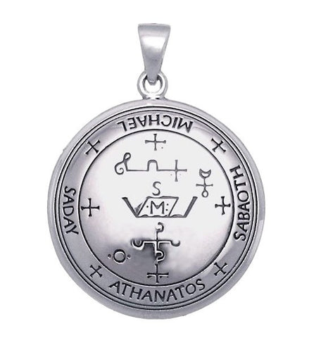 Archangel MICHAEL Talisman .925 Sterling Silver Sigil of Michael Angelic Pendant