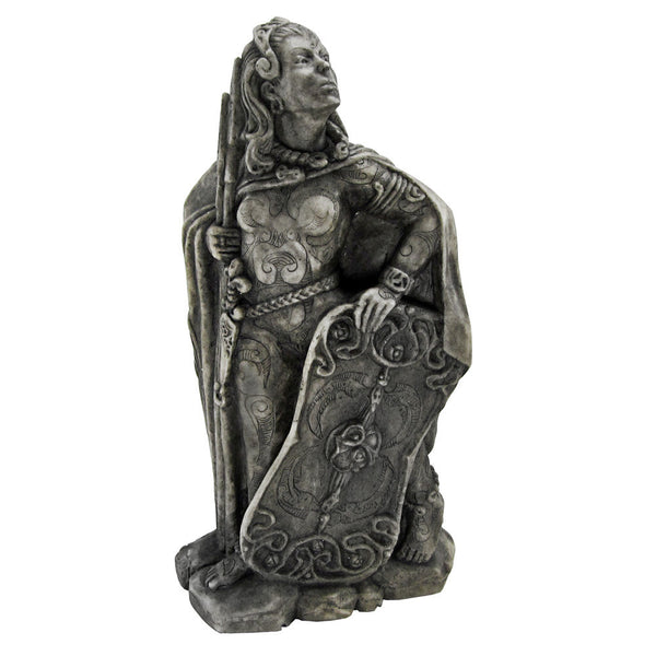 MORRIGAN Statue - Dryad Design DARK MOON Goddess w/ Raven Cloak in Stone Finish