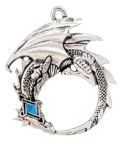 Ouroboros Dragon Necklace - Serpent Wisdom for Renewal Talisman Pendant