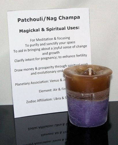 PATCHOULI NAG CHAMPA candle CRYSTAL JOURNEY Candles JOYFUL EVOLUTION Meditation