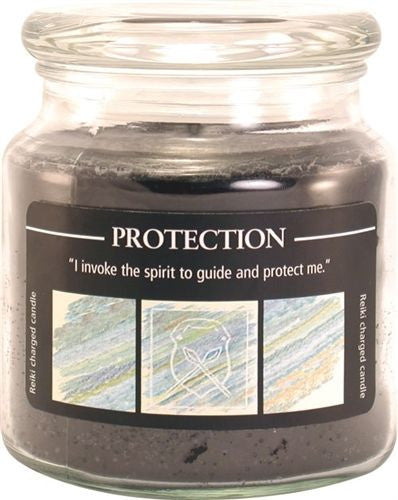 PROTECTION Reiki Candle Crystal Journey CANDLES Herbal Magic Jar Candle MANIFEST