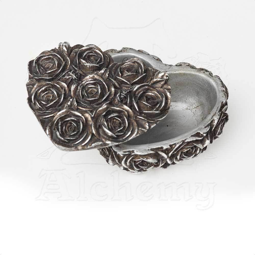 Rose Heart Box Alchemy Gothic Heart Shaped Rose Trinket Jewelry