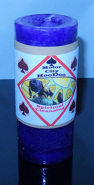 SPIRITUAL CLEANSING Hoo Doo Candle Coventry Creations Wicca Pagan Candle Magick