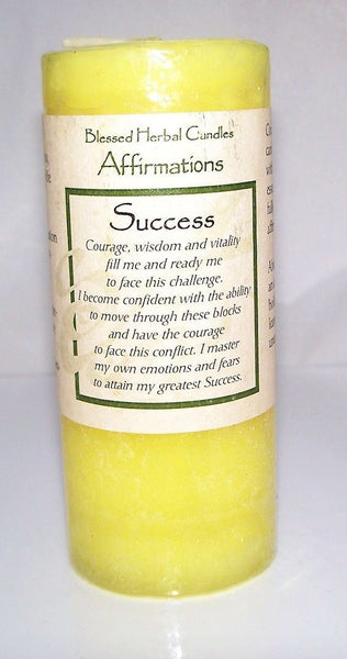 SUCCESS CANDLE Luck Victory COVENTRY CREATIONS Wiccan Pagan Magick affirmation