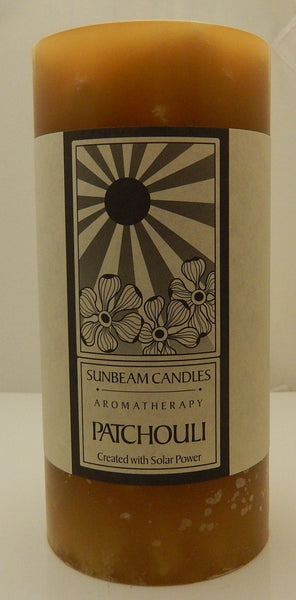 Patchouli 3 x 6 Pillar Candle Sunbeam Candles Aromatherapy Candle for Tranquility