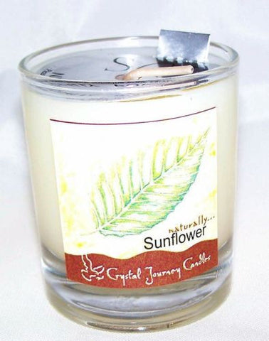Sunflower Soy Candle - Crystal Journey Candles to attract Wealth, Happiness, and remove negative energy
