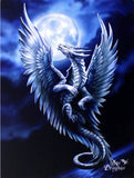 Silver Dragon Anne Stokes Wall Plaque