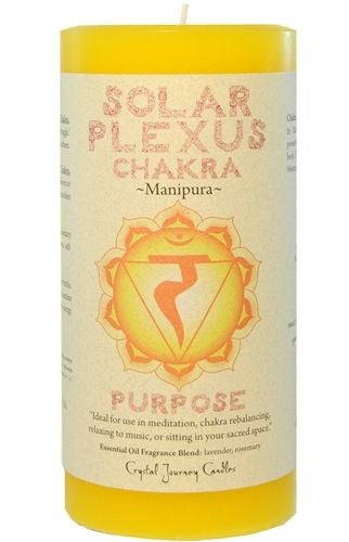 Solar Plexus Chakra Meditation candle Crystal Journey Candles Pillar Manipura