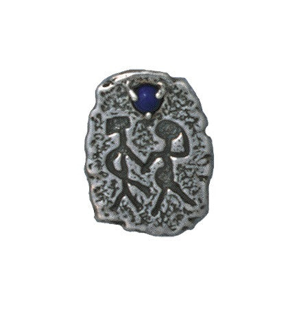 Soulmates Pendant in .925 Sterling Silver - Canyon del Muerto Soul Mate Petroglyph with choice of gemstone