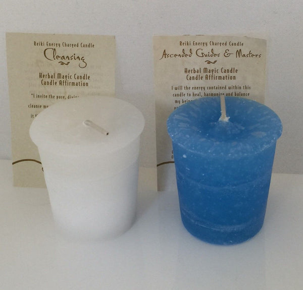 Spirit Cleansing and Ascended Masters Candles - Crystal Journey Votive 2 Pack