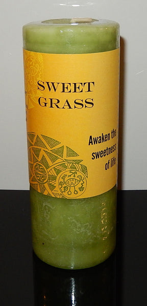 Sweet Grass Candle by Coventry Creations - Awakening Cleansing Manifestation Pillar Candle