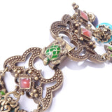 TURTLE Gemstone APPLE Bead Bracelet SWEET ROMANCE Ollipop Earthy Floral bracelet
