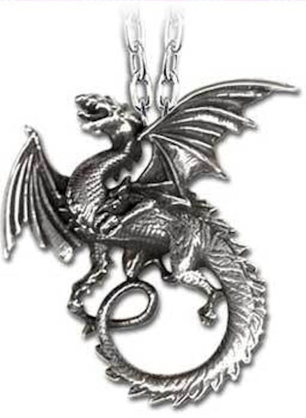 DRAGON Necklace Alchemy GOTHIC WHITBY WYRM North YORKSHIRE Legend Dragon Pendant