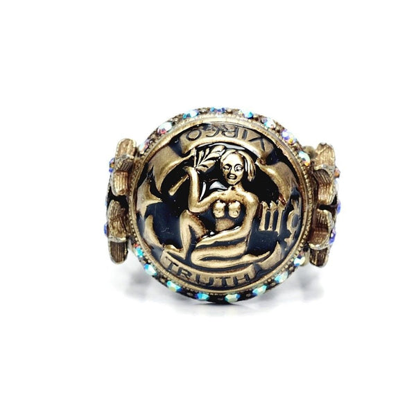 VIRGO Zodiac Ring SWEET ROMANCE Ollipop STAR Sign MERCURY Celestial Astrology