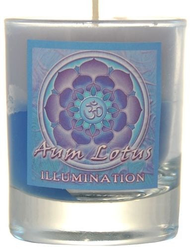 Illumination soy candle - Crystal Journey Candles Sandalwood Patchouli Amber Candle - Mandala Wheel of Life votive