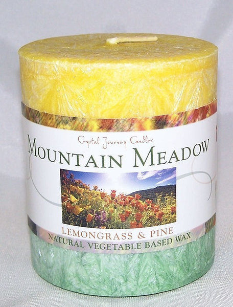 MOUNTAIN MEADOW candle Aromatherapy Crystal Journey Candles LEMONGRASS Pine