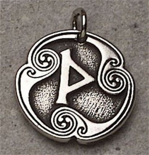THOR RUNE Thurisaz Pendant Norse Necklace Viking Amulet CLEAR KARMA Awakening