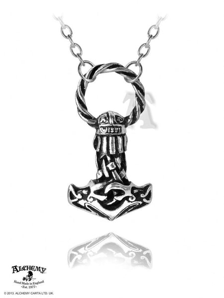 THOR'S HAMMER Mjollnir Pendant NORDIC Norse VIKING Necklace Alchemy Gothic pagan