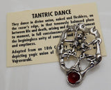 TANTRIC Dance Pendant in .925 Sterling Silver with genuine Carnelian - SKELETON Love YOGIC UNION amulet