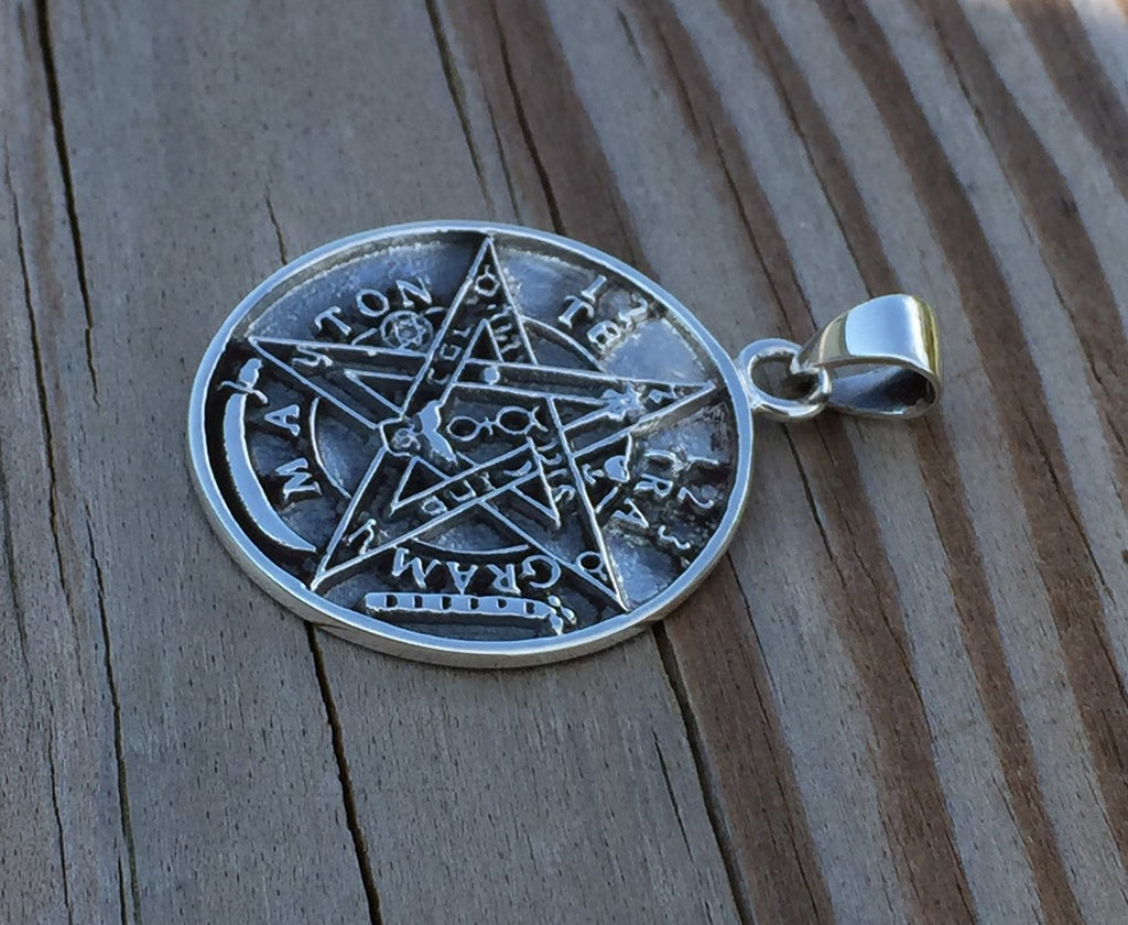 Tetragrammaton pendant in 925 solid sterling silver seal of tetragrammaton pendant in 925 solid sterling silver seal of solomon magick amulet mozeypictures Gallery