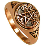 Tree Pentacle Ring in Copper - Dryad Design Celtic Tree Viking Yggdrasil Pentagram Ring