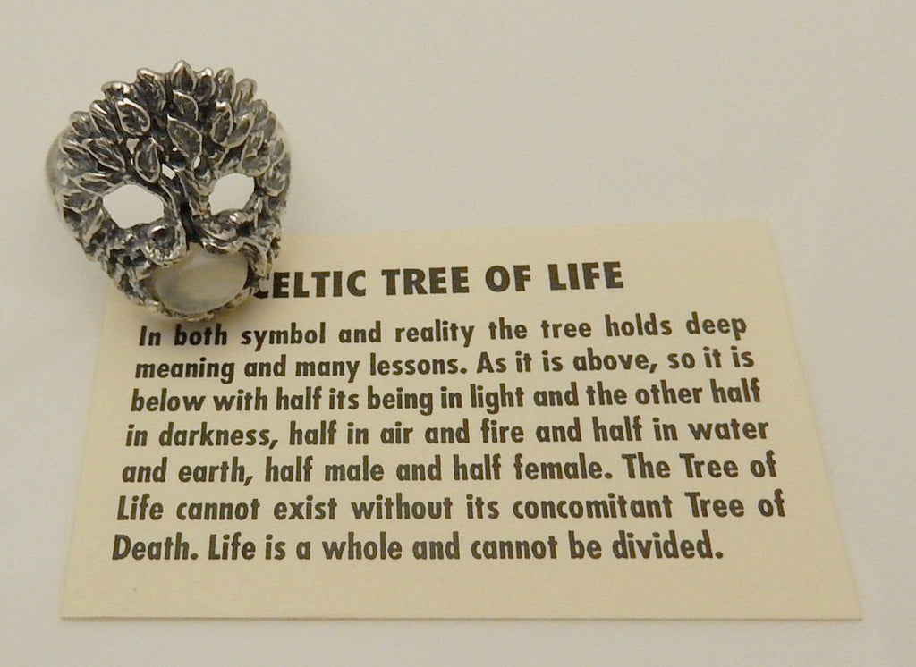 Celtic Tree Of Life Ring In 925 Sterling Silver Druid