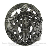 Tyr Belt Buckle - Dryad Design Norse God Belt Buckle - Spiritual Warrior Tir Pewter Buckle
