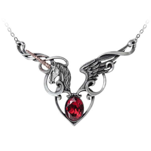 Wild Unicorn Heart Necklace - Alchemy Gothic Maiden's Conquest Necklace