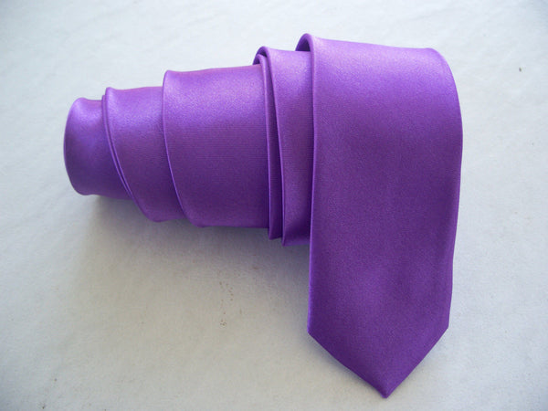 Violet Tie Solid Plain Shining Voilet NeckTie Hand Made Party Wedding Wear Tie New Fashion Neck Tie