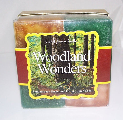 Woodland Wonders Candle Gift Set - Crystal Journey CANDLES Sandalwood Pine Cedar Enchanted Forest Candles