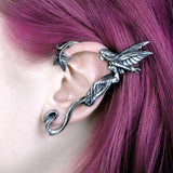 Whispering Fairy Ear Wrap - Alchemy Gothic Faery with Ivy Ear Jewelry - Winged Fae Ear Wrap