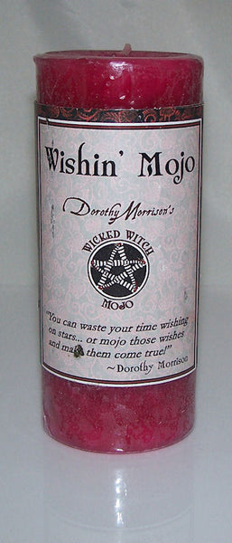 Wishin' MOJO Candle Coventry Creations Wicked Witch Wicca Magick WISH pillar