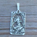 World Tarot Card Pendant in Sterling Silver