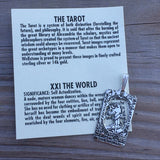 Small World Tarot Card Pendant - Made in USA