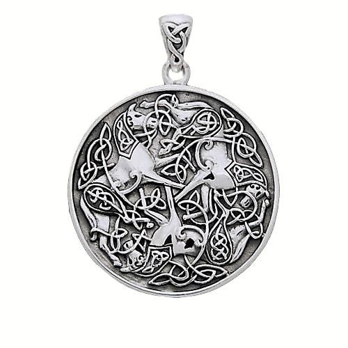 Celtic EPONA Horse Pendant in .925 Sterling Silver - Warrior HORSE Equine Goddess Amulet