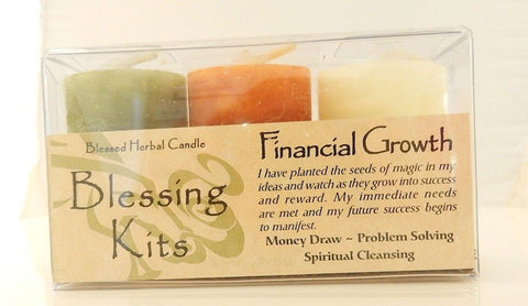Financial Growth Candles - Coventry Creations Blessing Kit Magick Wicca Pagan