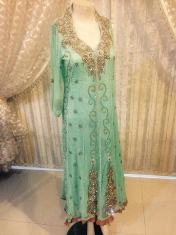 Indian Fancy Dress Pakistan Tradition Fancy Party Dress Bollywood Style Wedding Dress Hand Made Long Length Maxi