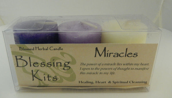 MIRACLES Candles Coventry Creations BLESSING KIT Magick Wicca Pagan votives