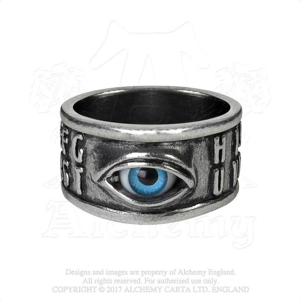 Ouija Eye Ring - Alchemy Gothic Talking Board Yes or No Ouija Board Ring