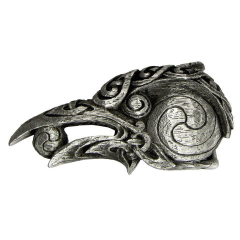 "Celtic Raven Belt Buckle | Dryad Design Morrigan Crow Pewter Buckle fits 1.5"" belt"