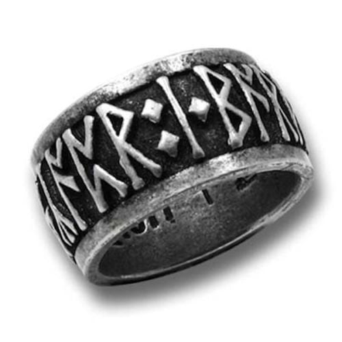 Runeband Ring - Alchemy Gothic NORDIC Norse RUNE Ring - Runic Magick Pagan Viking Ring