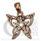 Butterfly Pentacle Pendant - Dryad Design Small Celtic Butterfly in Copper Jewelry