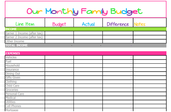 10 Free Budget Spreadsheets for Excel - Savvy Spreadsheets