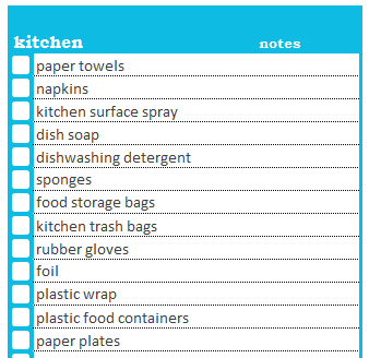 How to Use the Household Shopping List – Savvy Spreadsheets
