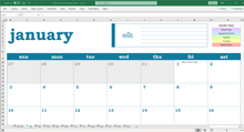 Load image into Gallery viewer, Deluxe Event Calendar - Excel Template