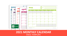 Load image into Gallery viewer, Easy Event Calendar - Excel Template