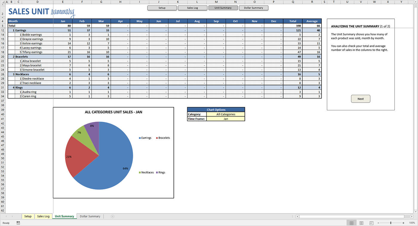 Product Sales Tracker - Excel Template - Savvy Spreadsheets