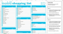 Load image into Gallery viewer, Household Shopping List - Excel Template